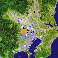 関東一円ネットワークを表す地図