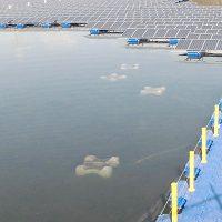 フロート式太陽光発電設備のアンカー(重石)